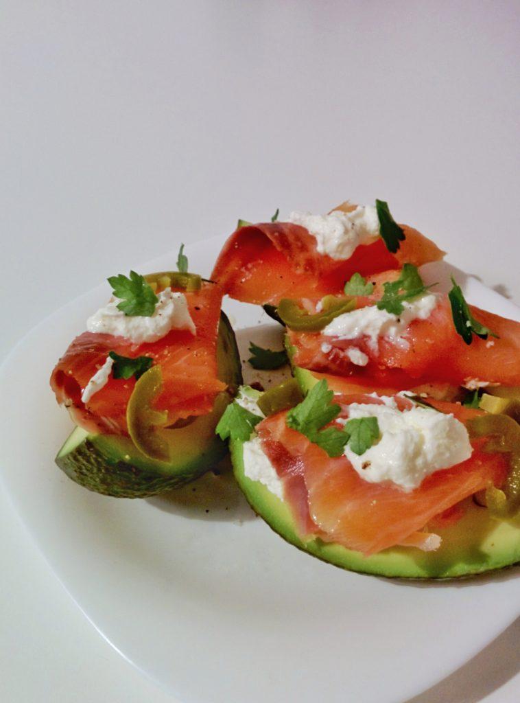 keto diet breakfast avocado salmon