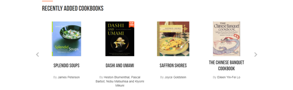 ckbk app screenshot of newly added cookbooks